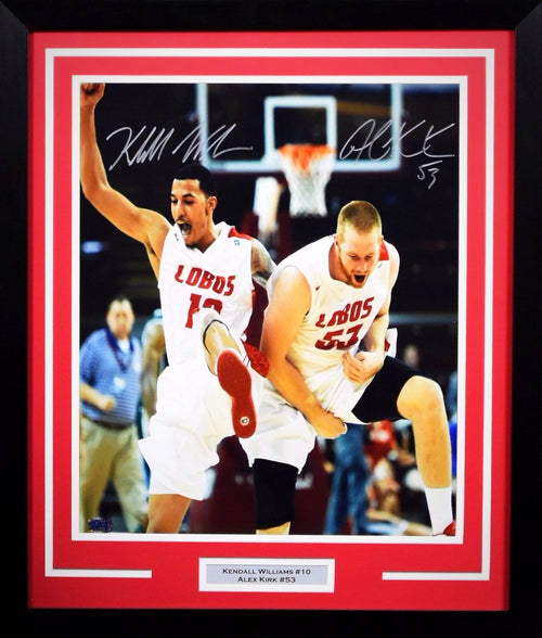 Kendall Williams & Alex Kirk Autographed New Mexico Lobos 16x20 Framed Photograph