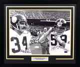 Jack Ham & Andy Russell Autographed Pittsburgh Steelers 16x20 Framed Photograph
