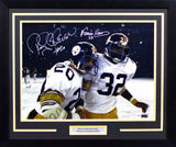 Franco Harris & Rocky Bleier Autographed Pittsburgh Steelers 16x20 Framed Photograph