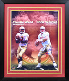 Charlie Ward & Chris Weinke Autographed Florida State Seminoles 16x20 Framed Photograph