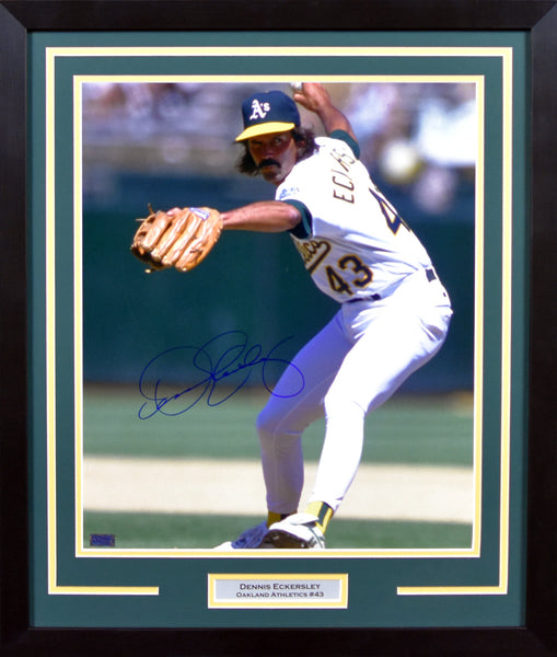 Dennis Eckersley Autographed Oakland Athletics 16x20 Framed Photograph