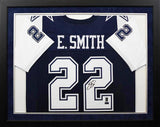 Emmitt Smith Autographed Dallas Cowboys #22 Framed Jersey - Navy