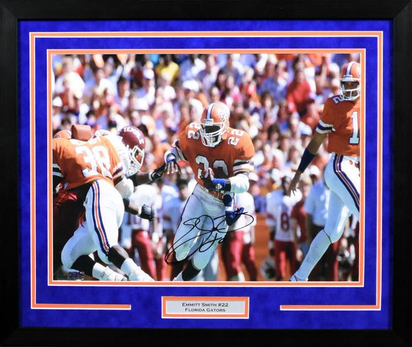 Emmitt Smith Autographed Florida Gators 16x20 Framed Photograph