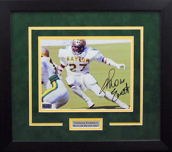 Thomas Everett Autographed Baylor Bears 8x10 Framed Photograph