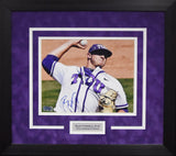 Riley Ferrell Autographed TCU Horned Frogs 8x10 Framed Photograph