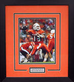 Josh Fields Autographed Oklahoma State Cowboys 8x10 Framed Photograph (Orange)