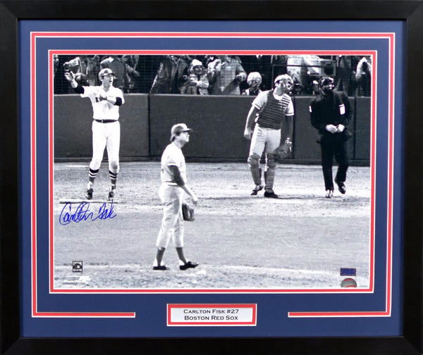 Carlton Fisk Autographed Boston Red Sox 16x20 Framed Photograph