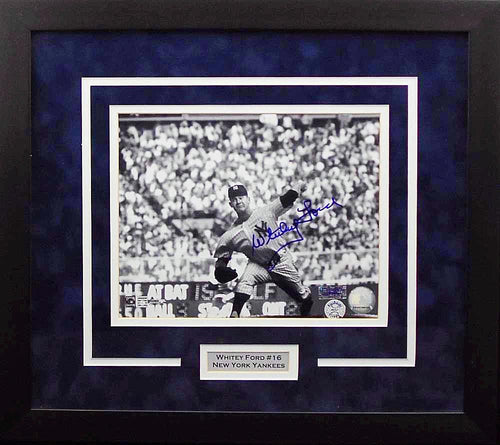 Whitey Ford Autographed New York Yankees 8x10 Framed Photograph