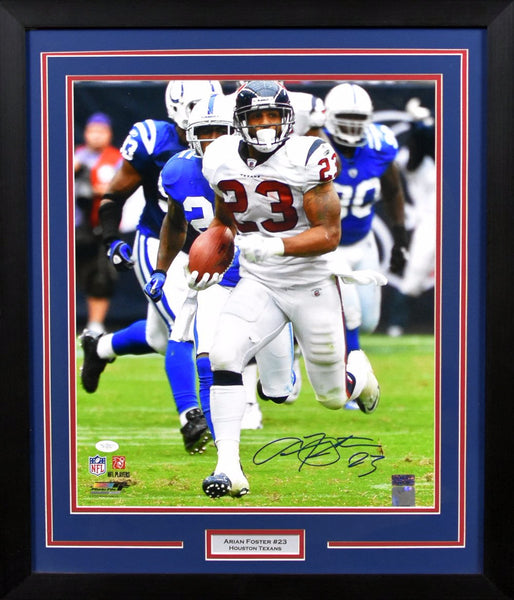 Arian Foster Autographed Houston Texans 16x20 Framed Photograph (vs Colts)