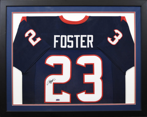 Arian Foster Autographed Houston Texans #23 Framed Jersey