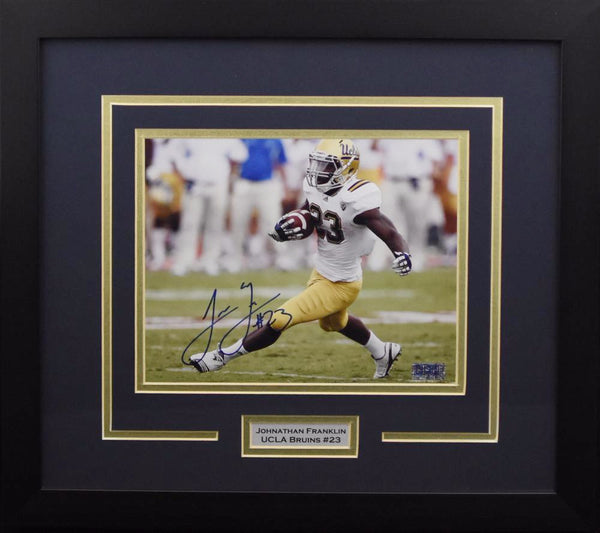 Johnathan Franklin Autographed UCLA Bruins 8x10 Framed Photograph (Solo)