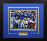 Johnathan Franklin Autographed UCLA Bruins 8x10 Framed Photograph (vs USC)