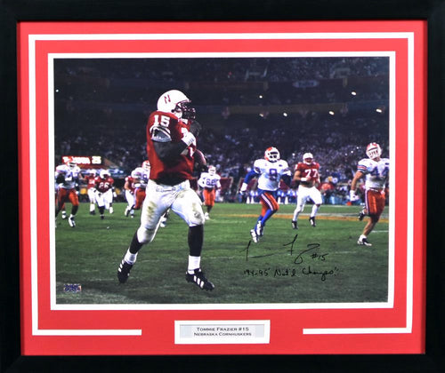 Tommie Frazier Autographed Nebraska Cornhuskers 16x20 Framed Photograph (The Run)