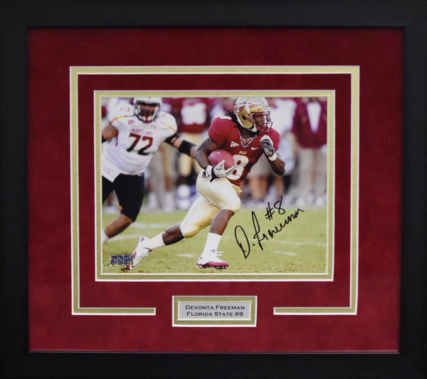 Devonta Freeman Autographed Florida State Seminoles 8x10 Framed Photograph vs Maryland