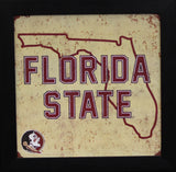 Florida State Seminoles 12x12 Framed Tin Sign - State