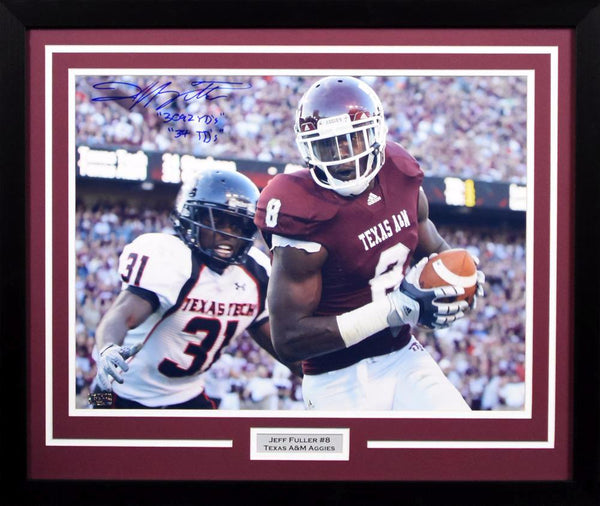 Jeff Fuller Autographed Texas A&M Aggies 16x20 Framed Photograph