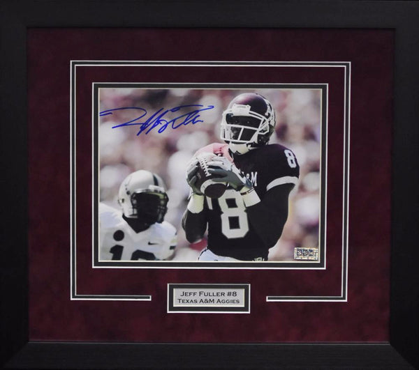 Jeff Fuller Autographed Texas A&M Aggies 8x10 Framed Photograph
