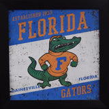 Florida Gators 12x12 Framed Tin Sign - Logo