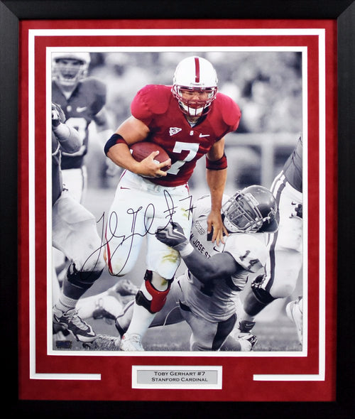 Toby Gerhart Autographed Stanford Cardinal 16x20 Framed Photograph