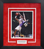 Danny Granger Autographed New Mexico Lobos 8x10 Framed Photograph (vs Wake Forest)