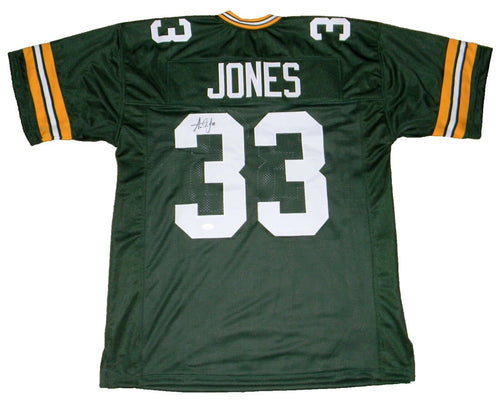 Aaron Jones Autographed Green Bay Packers #33 Green Jersey