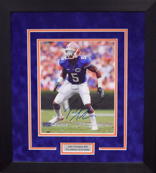 Joe Haden Autographed Florida Gators 8x10 Framed Photograph