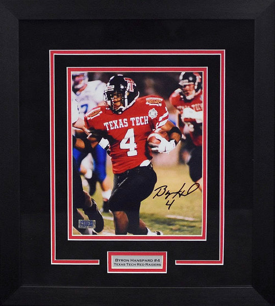 Byron Hanspard Autographed Texas Tech Red Raiders 8x10 Framed Photograph