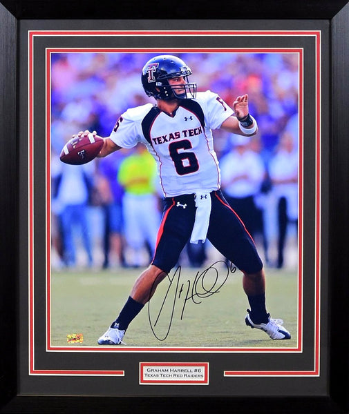 Graham Harrell Autographed Texas Tech Red Raiders 16x20 Framed Photograph