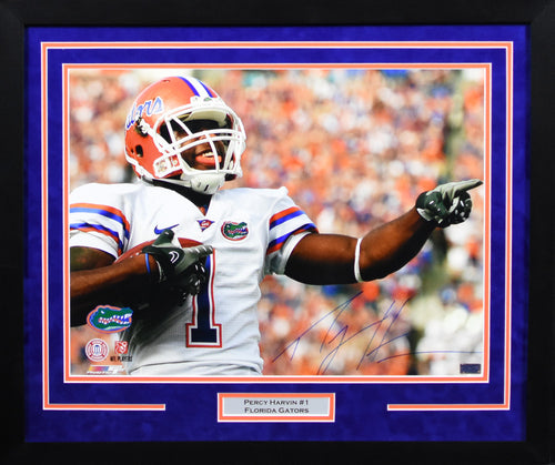 Percy Harvin Autographed Florida Gators 16x20 Framed Photograph