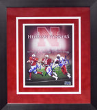 Eric Crouch, Johnny Rodgers & Mike Rozier Autographed Nebraska Cornhuskers 8x10 Framed Photograph