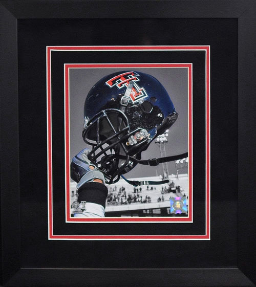 Texas Tech Red Raiders Helmet 8x10 Framed Photograph