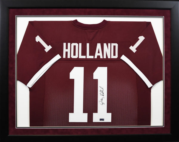 Johnny Holland Autographed Texas A&M Aggies #11 Framed Jersey