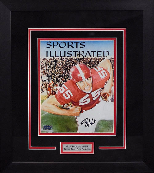 EJ Holub Autographed Texas Tech Red Raiders 8x10 Framed Photograph (SI)