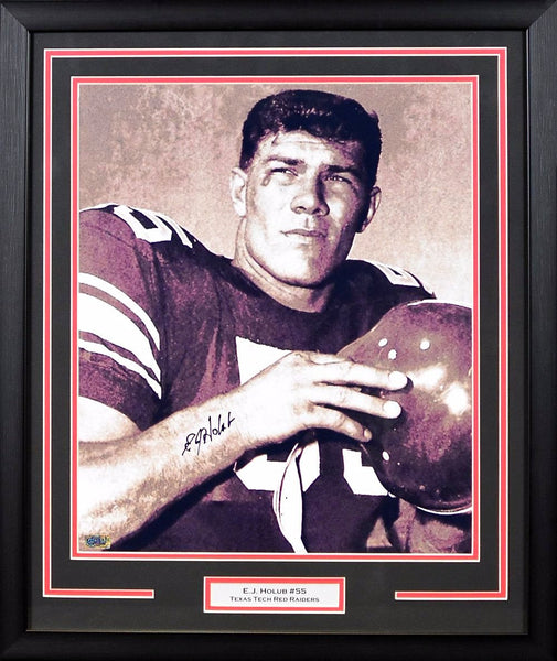 EJ Holub Autographed Texas Tech Red Raiders 16x20 Framed Photograph