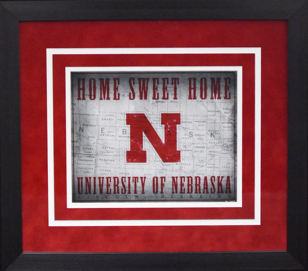 Nebraska Cornhuskers Home Sweet Home 8x10 Framed Photograph