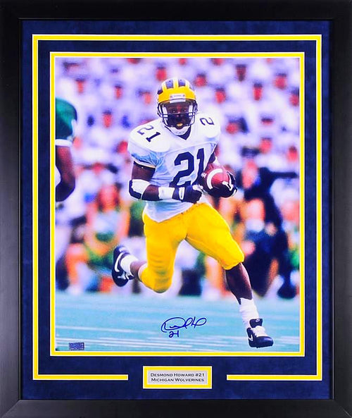 Desmond Howard Autographed Michigan Wolverines 16x20 Framed Photograph