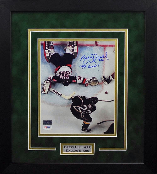 Brett Hull Autographed Dallas Stars 8x10 Framed Photograph (Vertical)