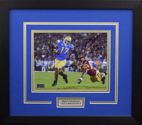 Brett Hundley Autographed UCLA Bruins 8x10 Framed Photograph (vs USC)