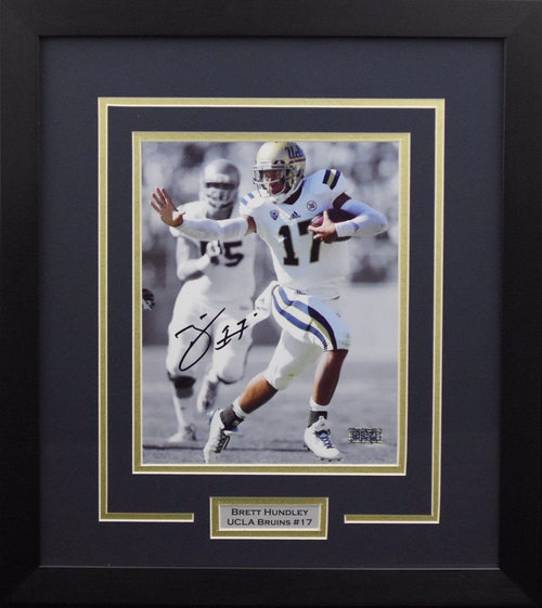 Brett Hundley Autographed UCLA Bruins 8x10 Framed Photograph (Spotlight)