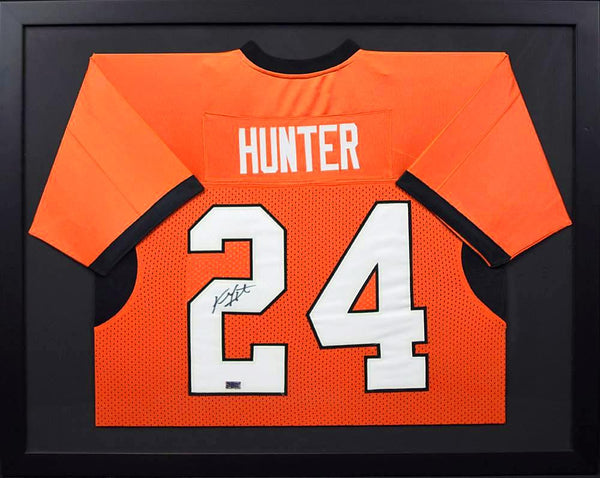 Kendall Hunter Autographed Oklahoma State Cowboys #24 Framed Jersey