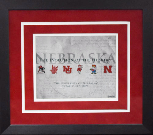 Nebraska Cornhuskers Evloution of the Huskers 8x10 Framed Photograph