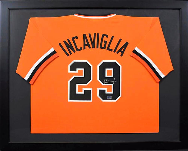 Pete Incaviglia Autographed Oklahoma State Cowboys #29 Framed Jersey