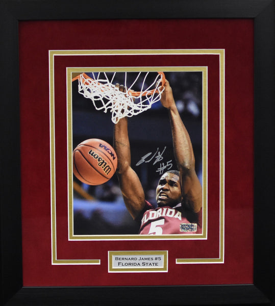 Bernard James Autographed Florida State Seminoles 8x10 Framed Photograph