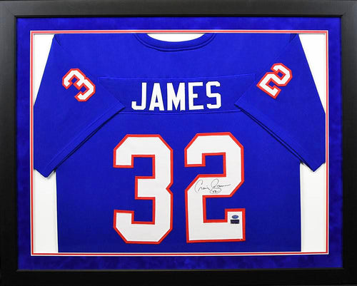 Craig James Autographed SMU Mustangs #32 Framed Jersey