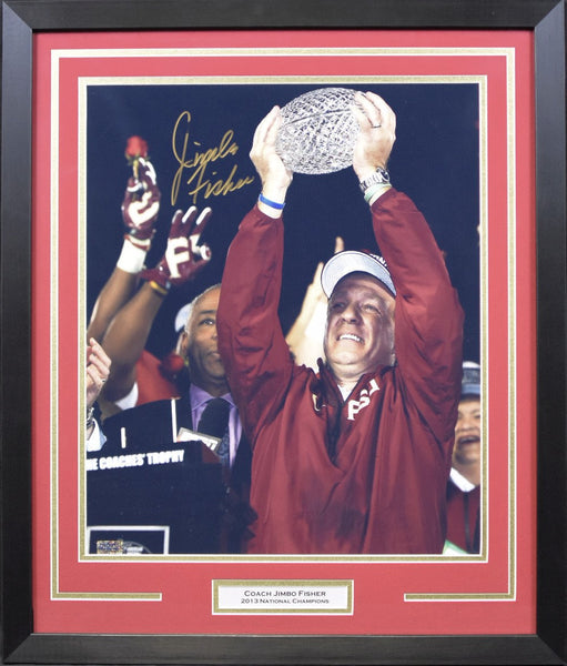 Jimbo Fisher Autographed Florida State Seminoles 16x20 Framed Photograph