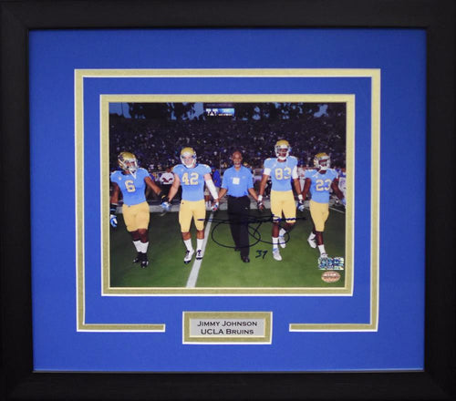 Jimmy Johnson Autographed UCLA Bruins 8x10 Framed Photograph