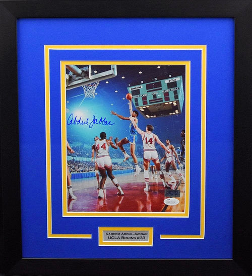 Kareem Abdul-Jabbar Autographed UCLA Bruins 8x10 Framed Photograph (vs Houston)