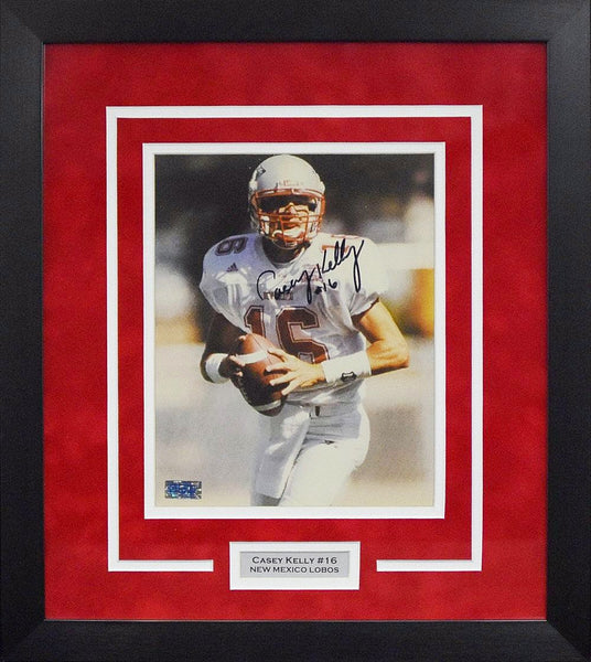 Casey Kelly Autographed New Mexico Lobos 8x10 Framed Photograph