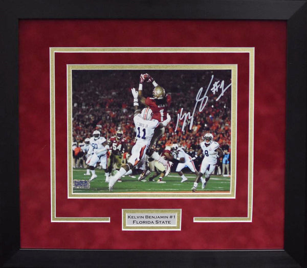 Kelvin Benjamin Autographed Florida State Seminoles 8x10 Framed Photograph - Color
