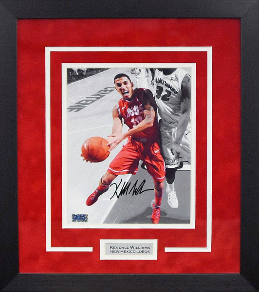 Kendall Williams Autographed New Mexico Lobos 8x10 Framed Photograph (Spotlight)